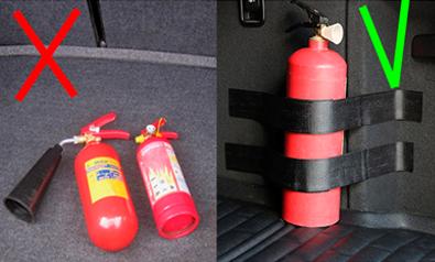 Способы установки крепление огнетушителя