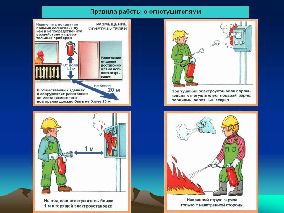 Правила пользования углекислотным огнетушителем