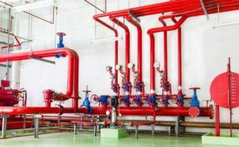 Трубная разводка внутреннего противопожарного водопровода