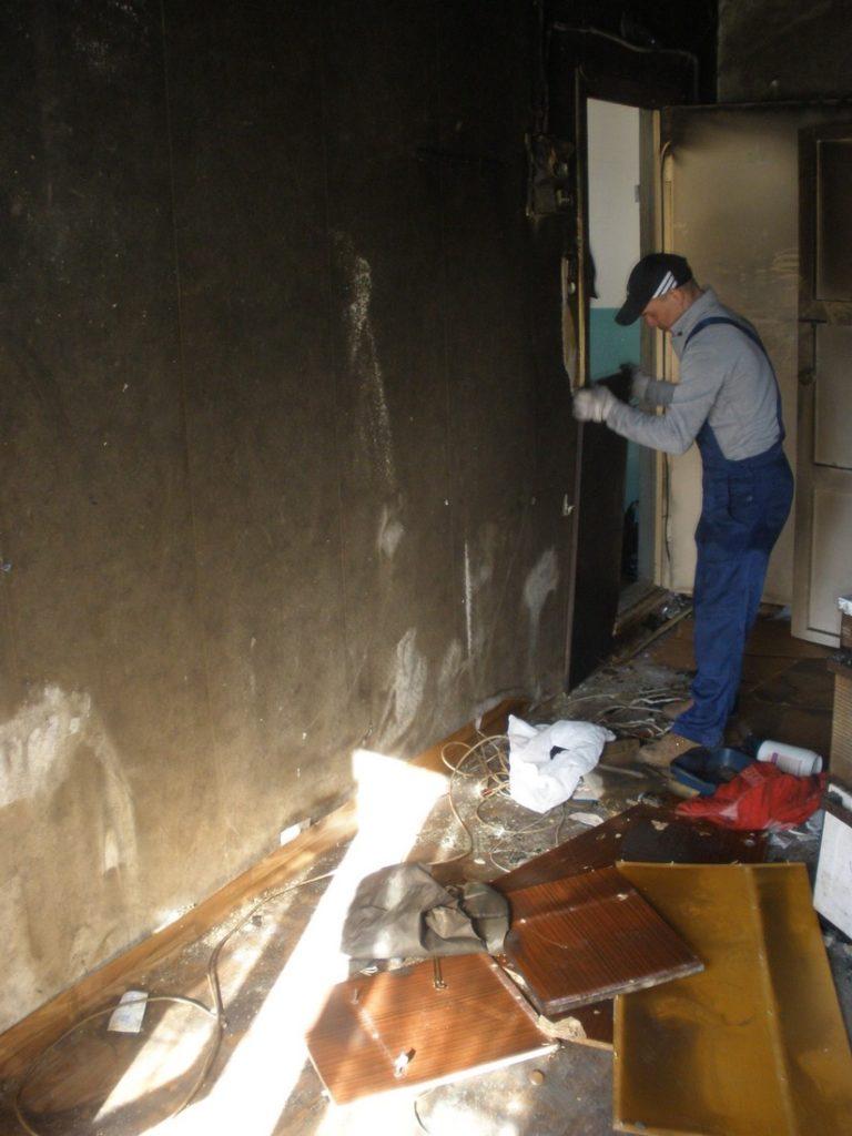 2 этап очистики пожара