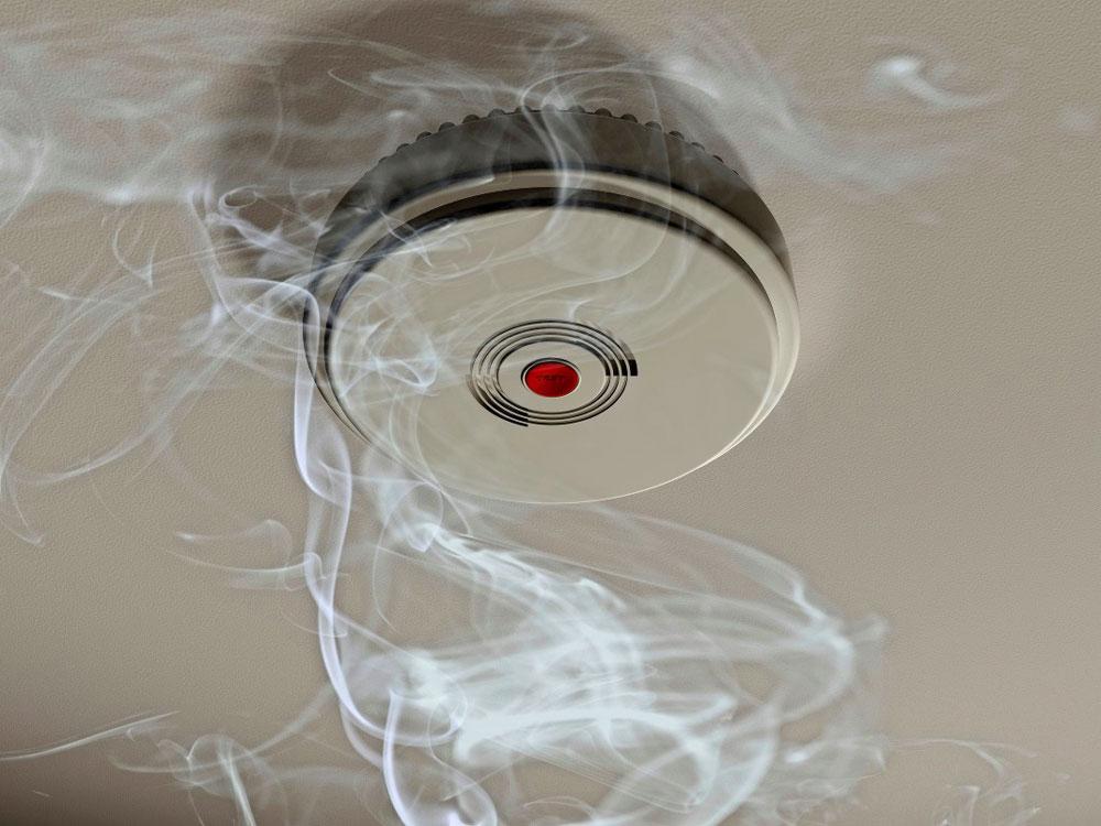 Установка датчиков пожарной сигнализации