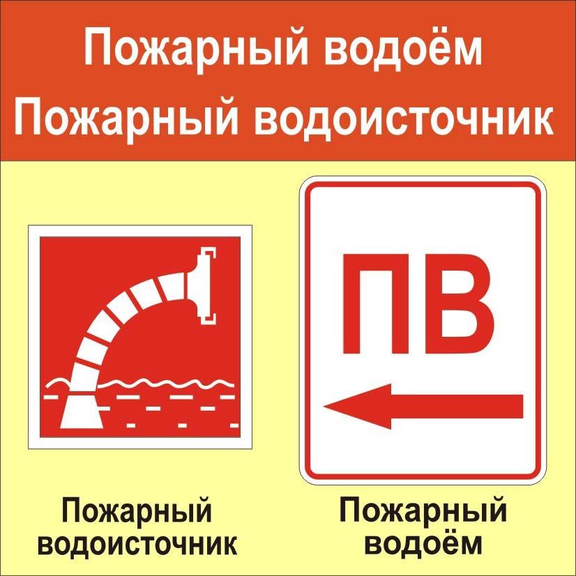 Знак искусственный пожарный водоем