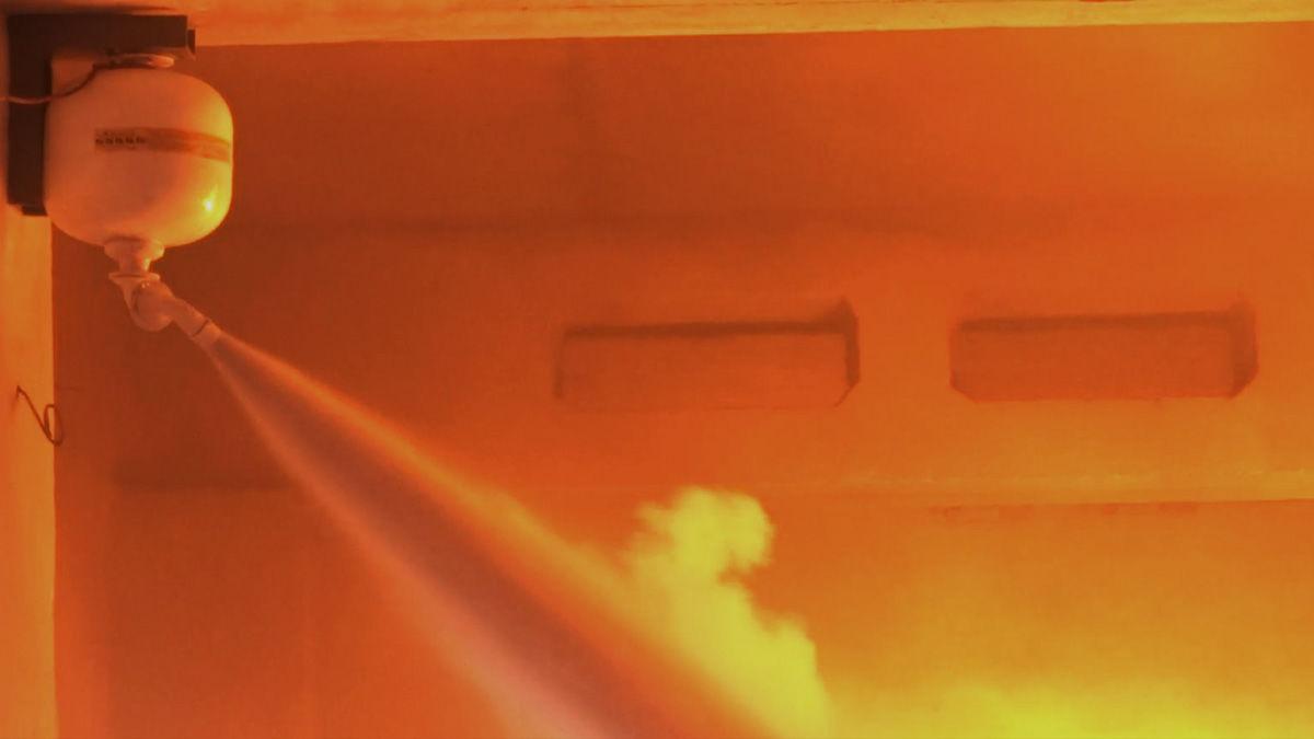 Автоматический порошковый огнетушитель