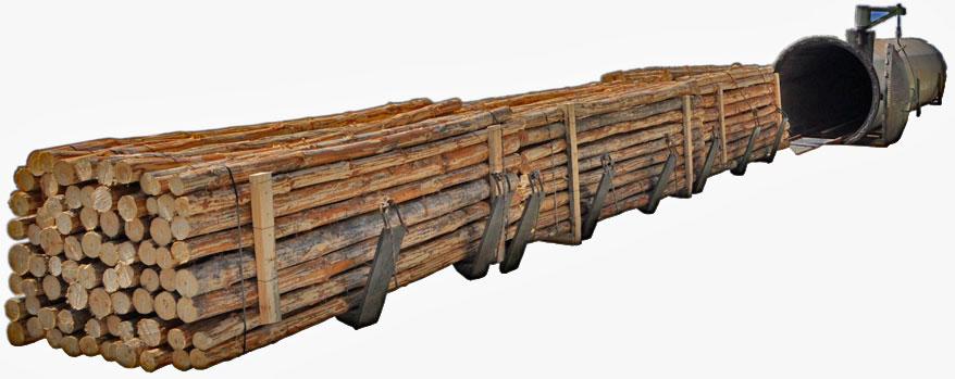 Пропитка древесины в специальном оборудовании