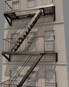 Эвакуационные лестницы между лоджиями