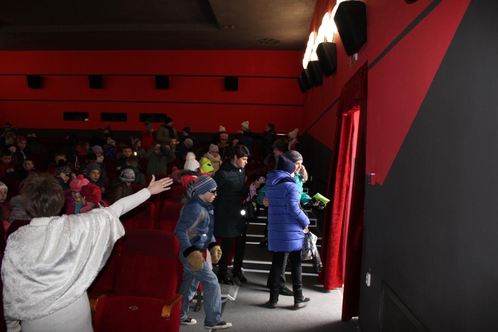 Эвакуация из кинотеатра.
