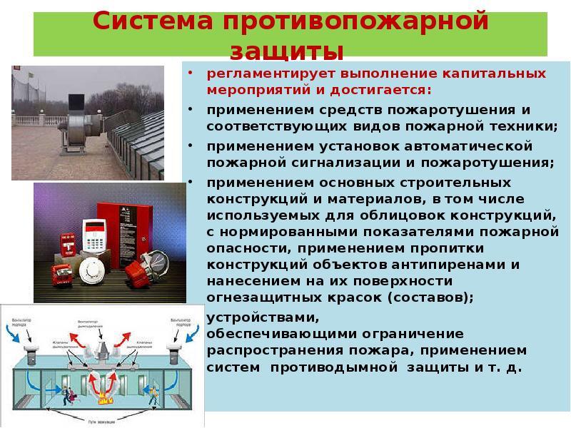 Что относится к системам противопожарной защиты