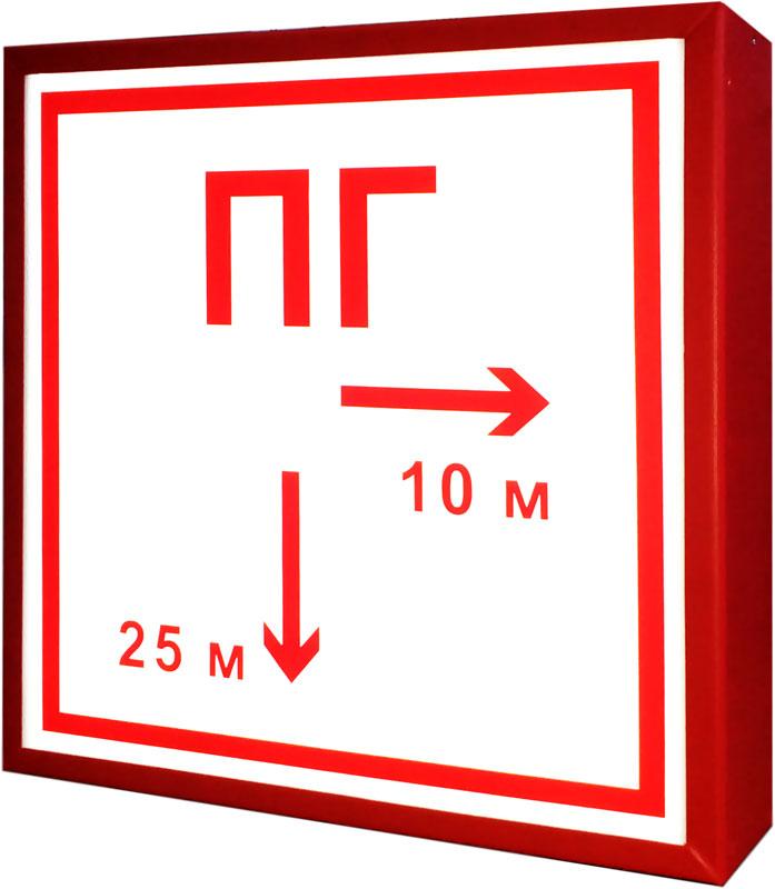Обозначение пожарного гидранта (табличный вариант)