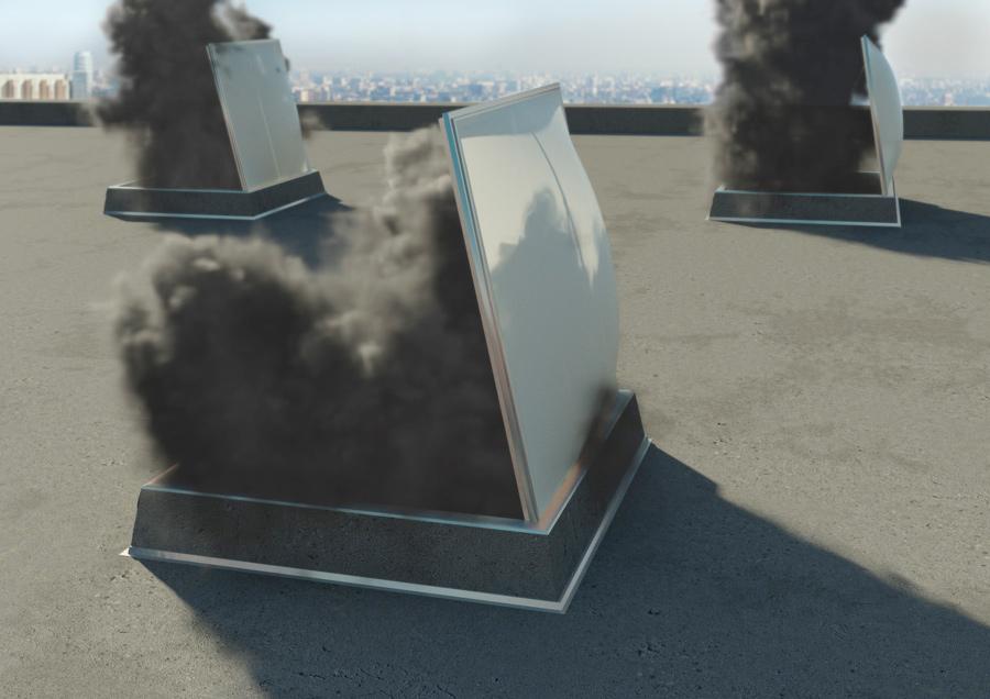 Работа системы дымоудаления