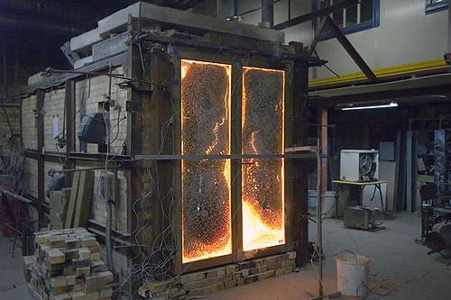 Испытания дверей на огнестойкость