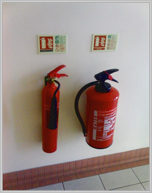 Огнетушители в помещении
