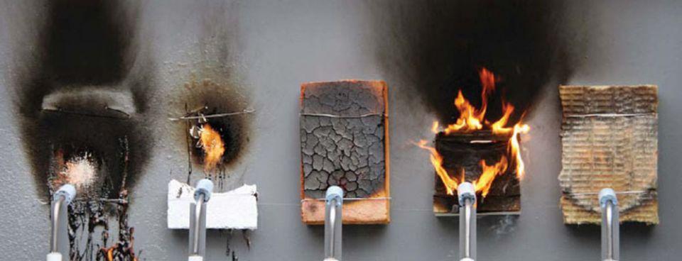 Испытание стройматериалов на огнестойкость