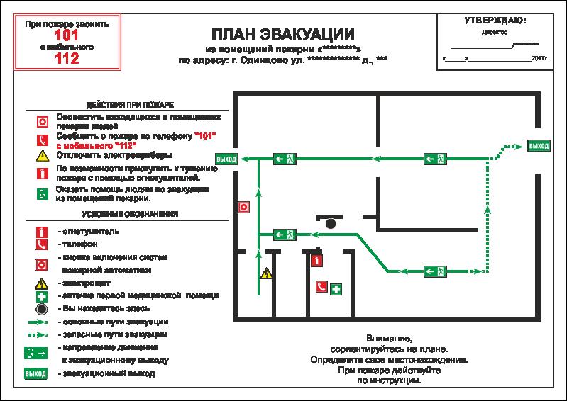 Грамотно составленный план эвакуации