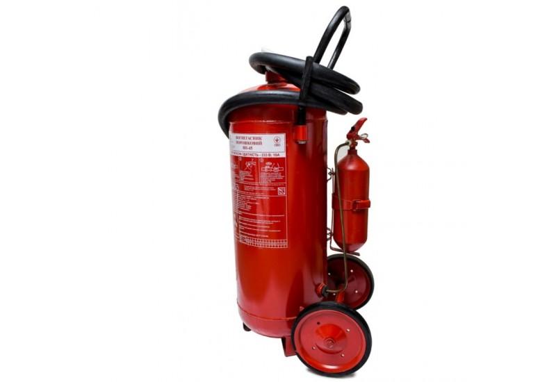 Передвижные огнетушители большой массы