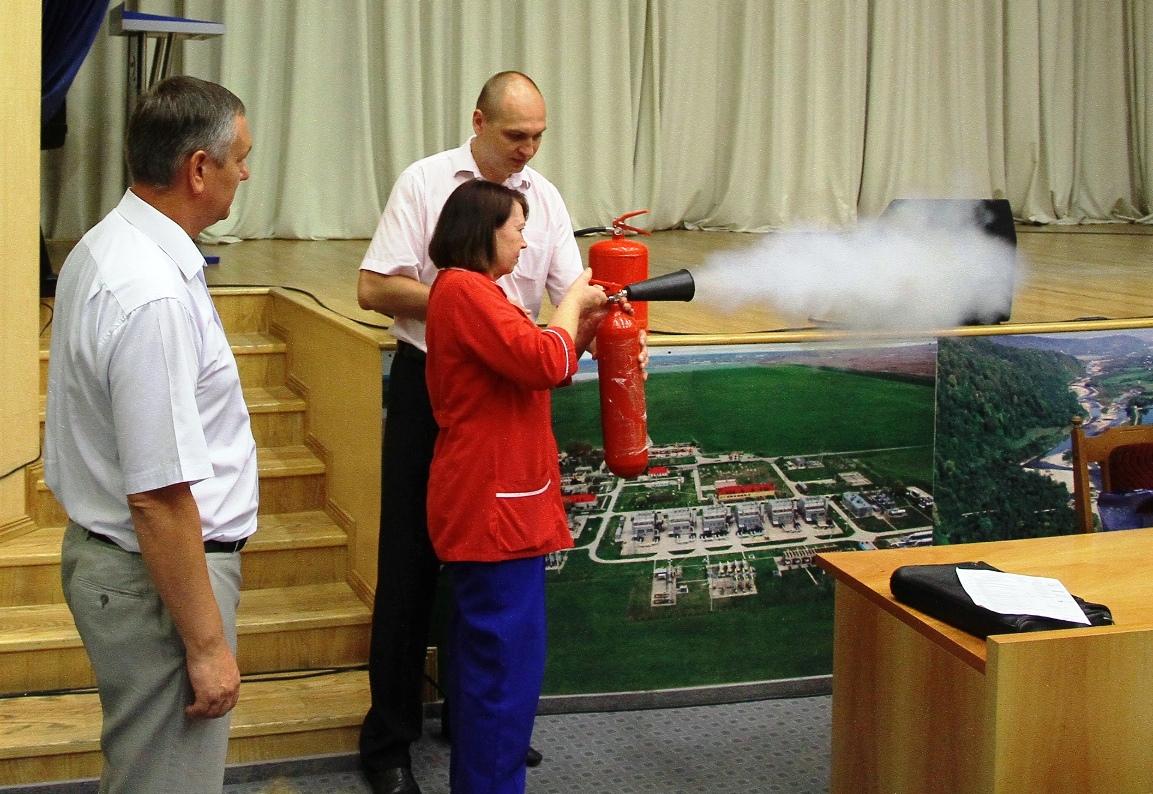 Занятие по применению первичных средств пожаротушения