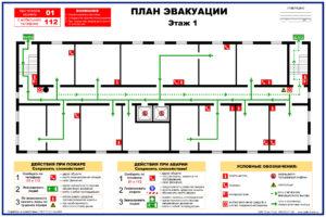 Образец плана эвакуации