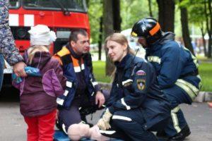 Тренировка оказания первой помощи.