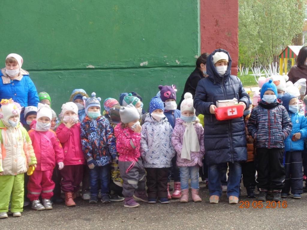 Эвакуация в детском саду