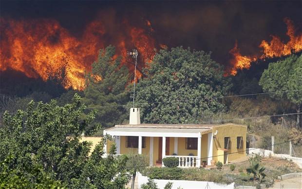 Локализация огня в опасной близости к жилой территории