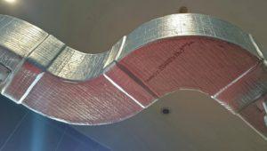 Система термозащиты воздуховода с использованием базальтовой ваты