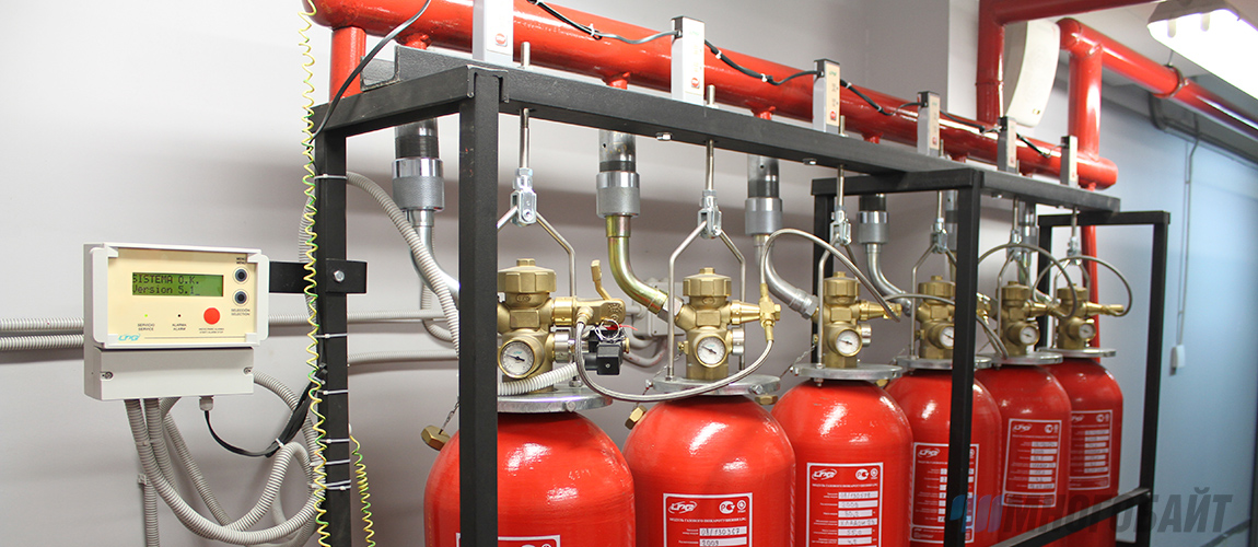 Автоматическая установка для тушения пожаров в ТЦ