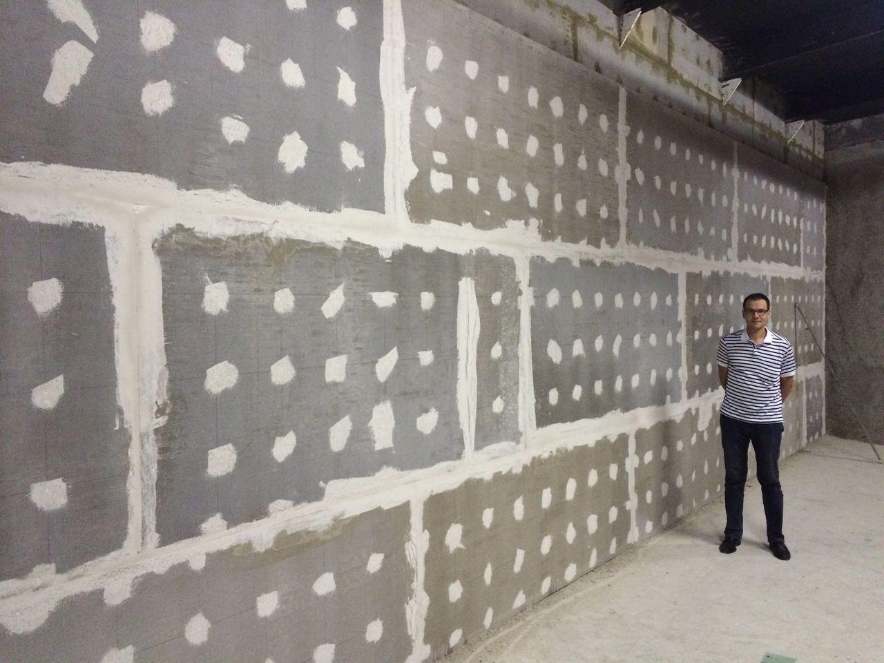 Противопожарная стена из бетонных плит