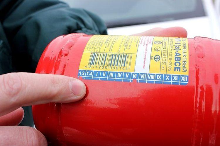 Как найти срок изготовления огнетушителя