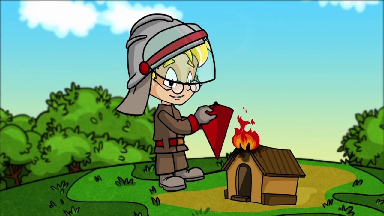 Тушить пожар удобнее конусными ведрами