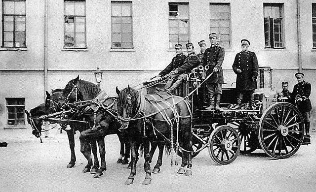 Конный пожарный экипаж