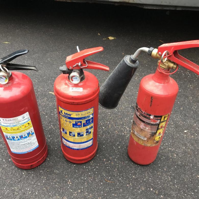 Разновидности огнетушителей