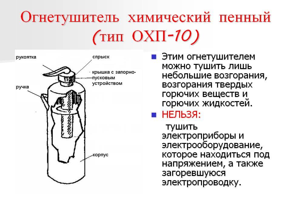 Устройство воздушно-пенного огнетушителя