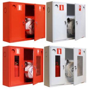 Разновидности пожарных шкафов с вариантами укладки содержимого