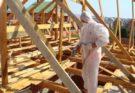 Обработка стропильной системы на этапе строительства