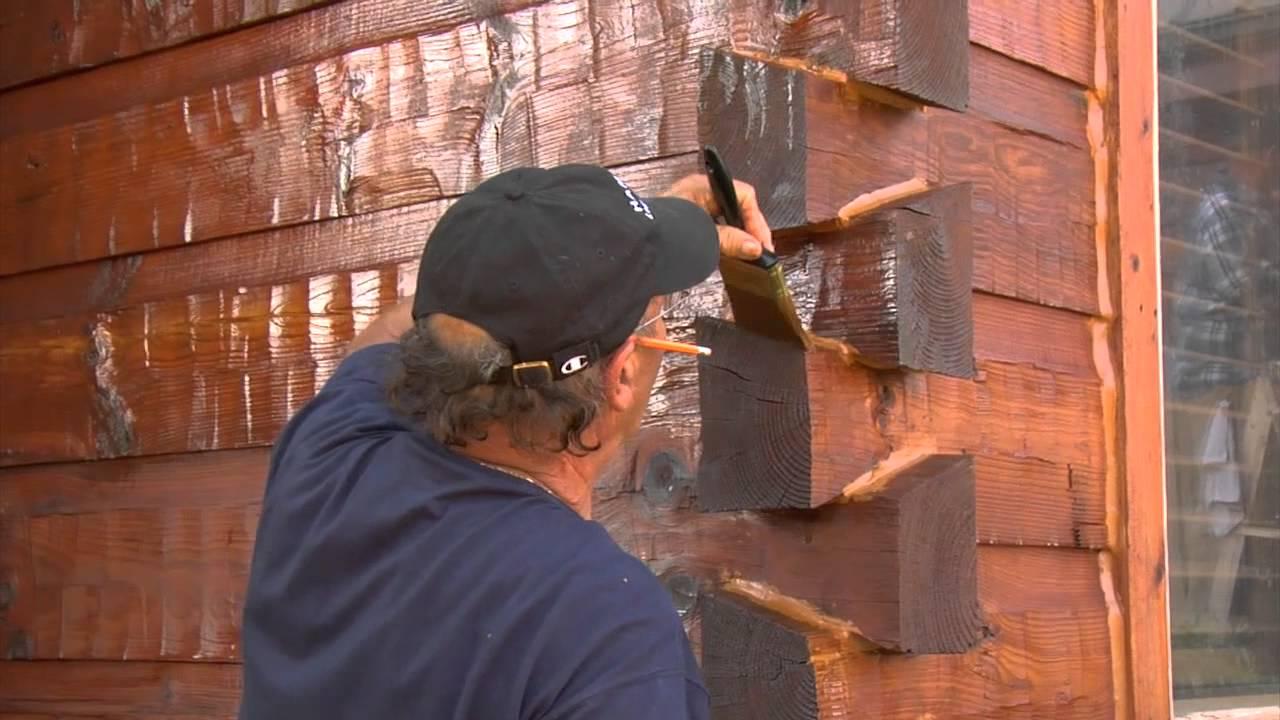 Пропитка огнезащитным составом угловых соединений дома из бруса