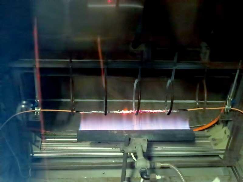Испытание огнестойкого кабеля на дымогазовыдение