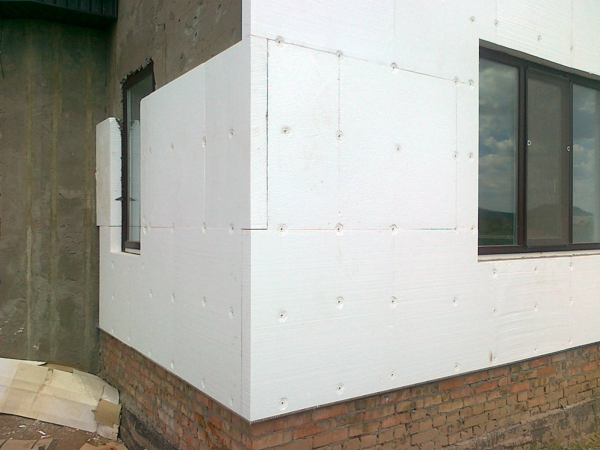 Утепление стен дома