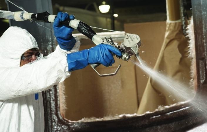 Нанесение огнезащитного состава на полимерное изделие