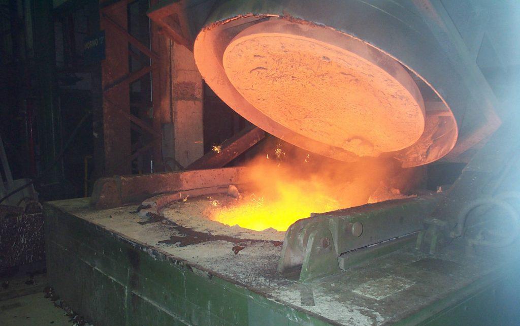 Металлургическая печь из огнеупорного бетона