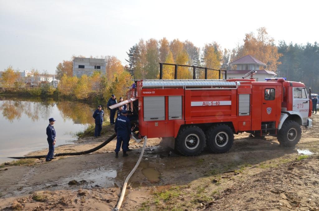 Заправка водой пожарной машины