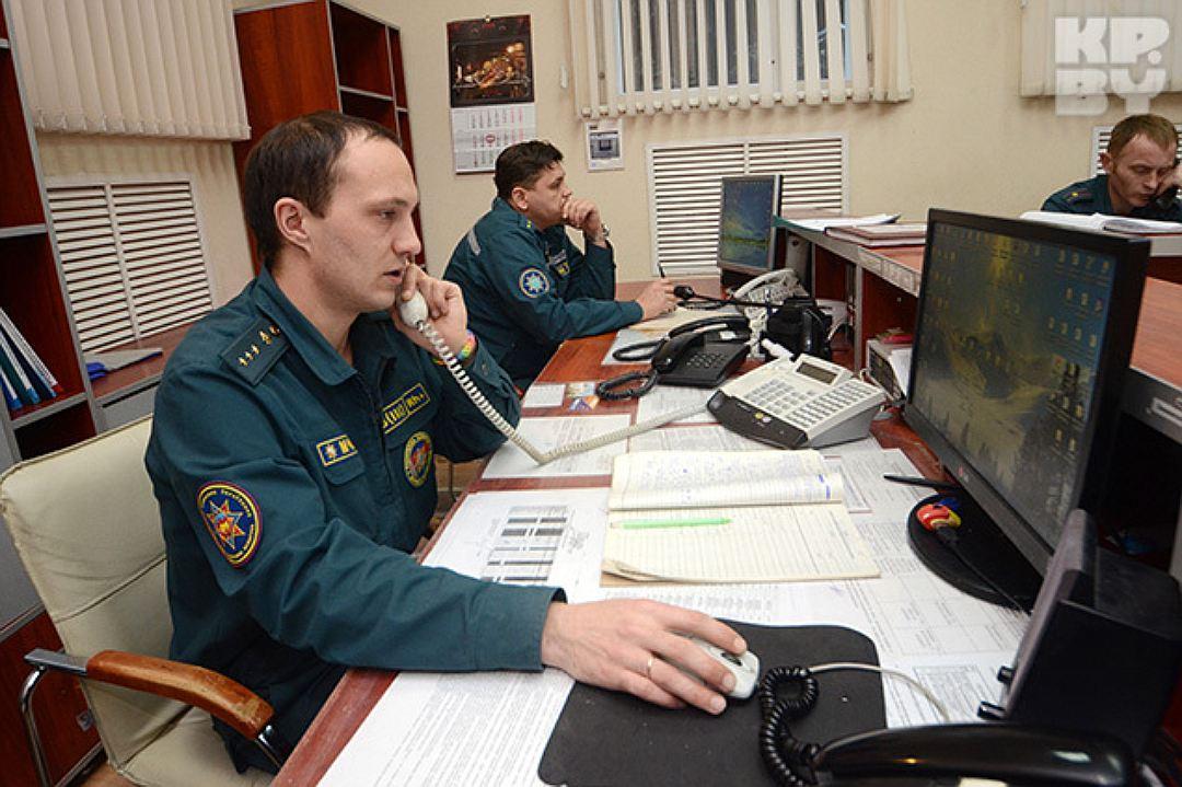 Команда диспетчеров большого подразделения ГПС