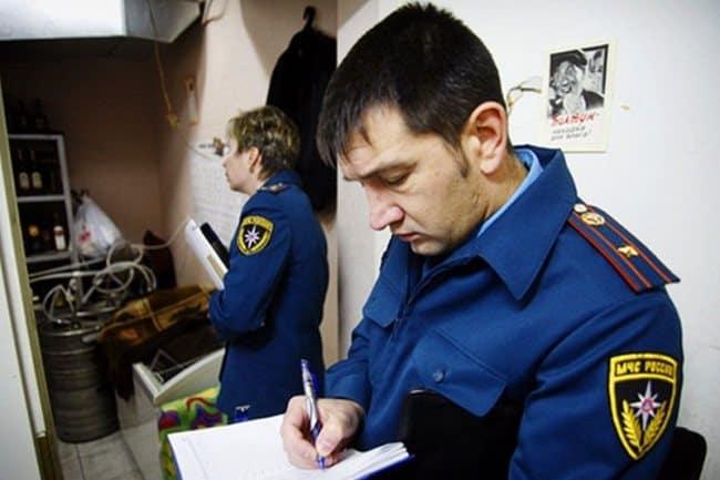 Представители пожарной инспекции проверят заявление на месте