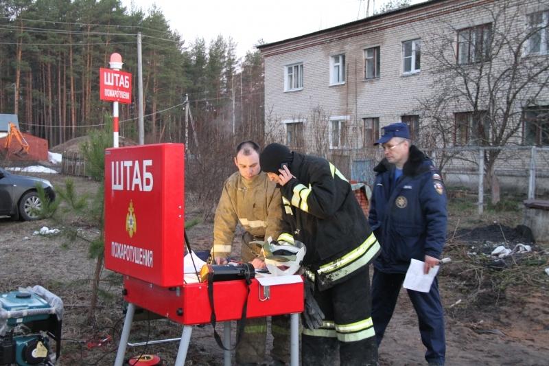 Организация мобильного связного пункта, развернутого на месте пожара