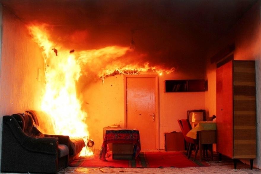Как распространяется огонь при пожаре