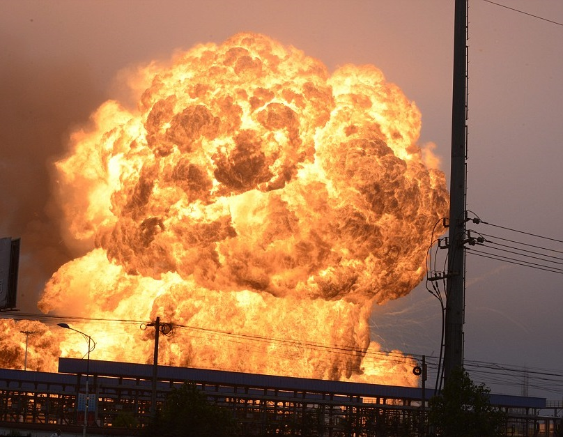 Взрыв при пожаре