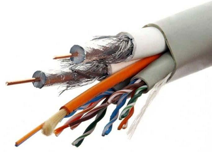 Разного назначение кабели и провода в одном шлейфе