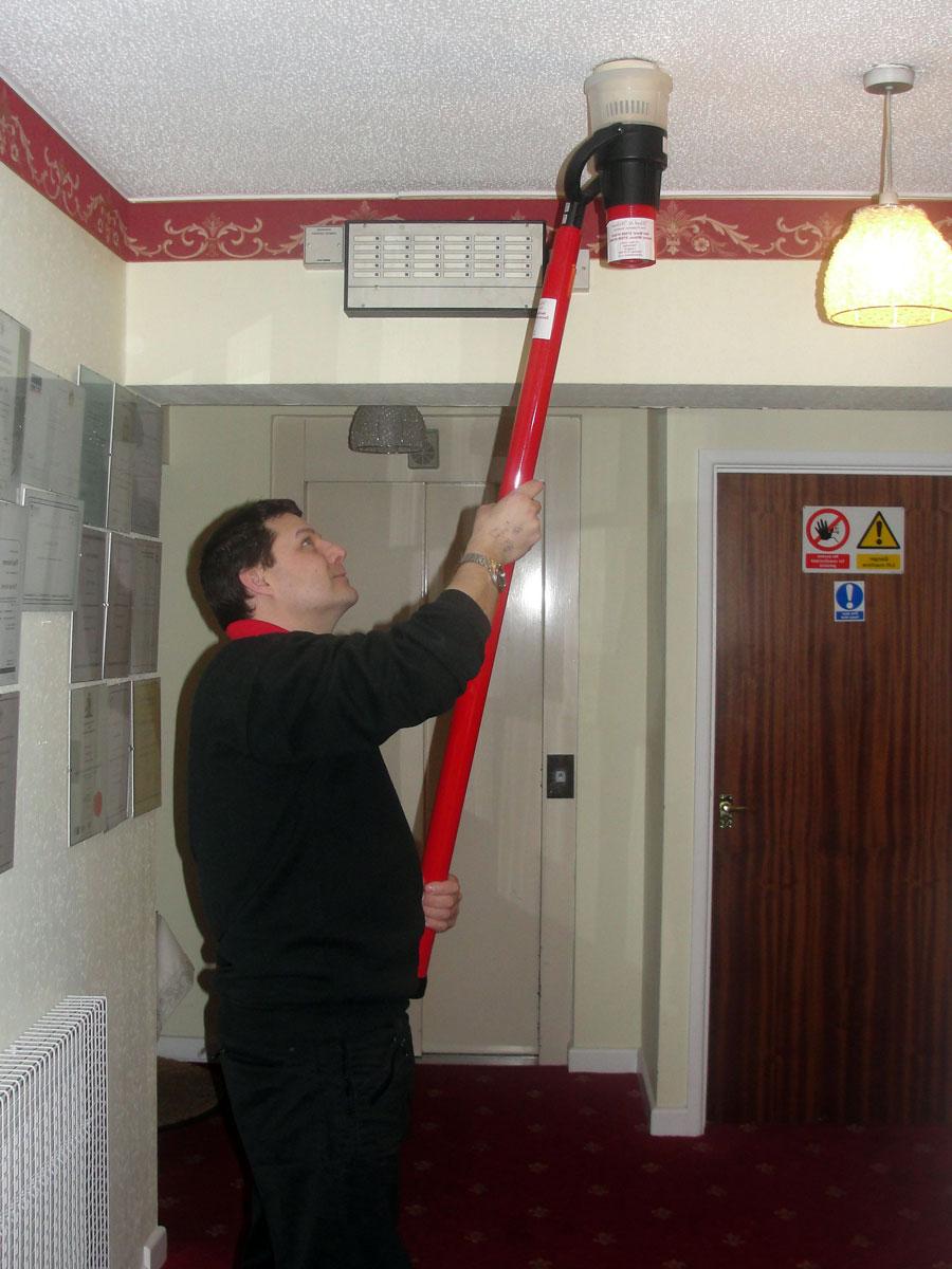 Обслуживание пожарных датчиков