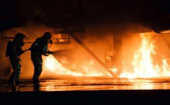 Ликвидация пожара на промышленном объекте
