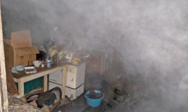 Дым при пожаре внутри помещений