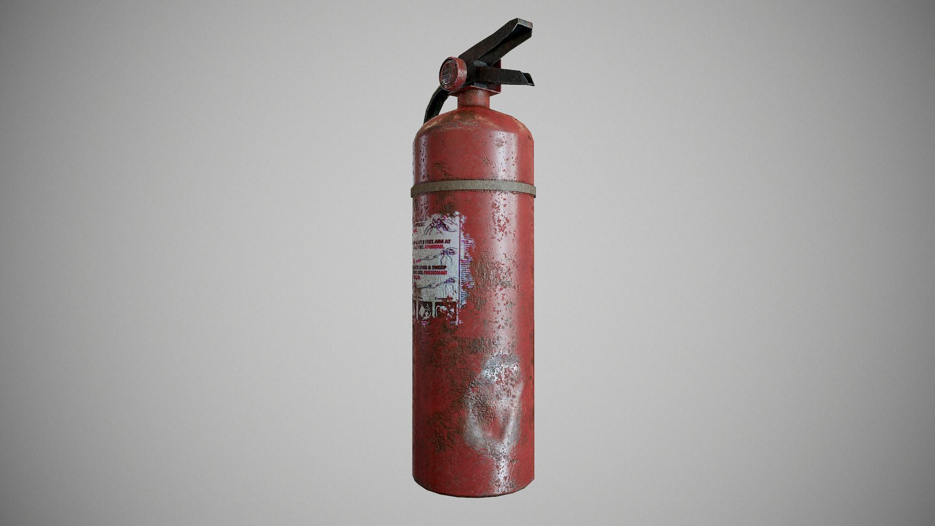 Поврежденный огнетушитель