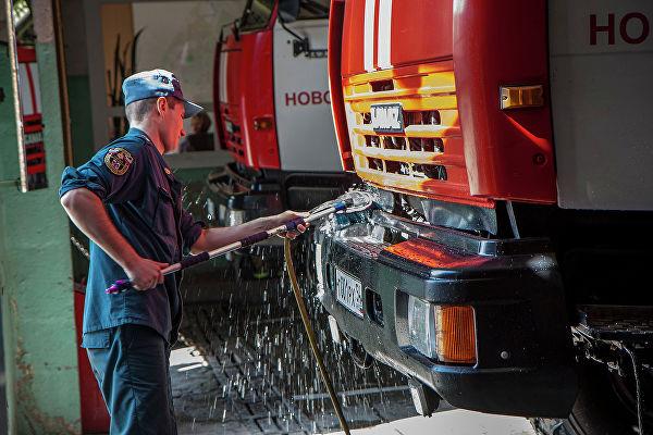 Мойка пожарной машины